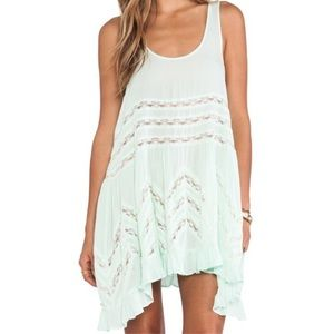 Free People Voile & Lace Trapeze Slip Dress